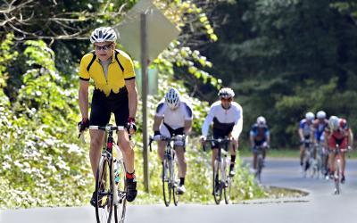 Cours cycliste l'Ardechoise