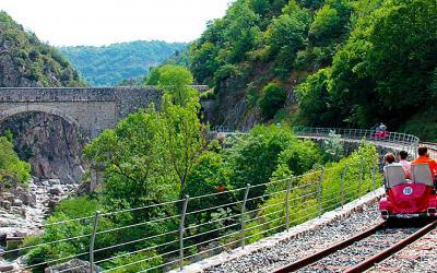 Vélo rail en Ardèche